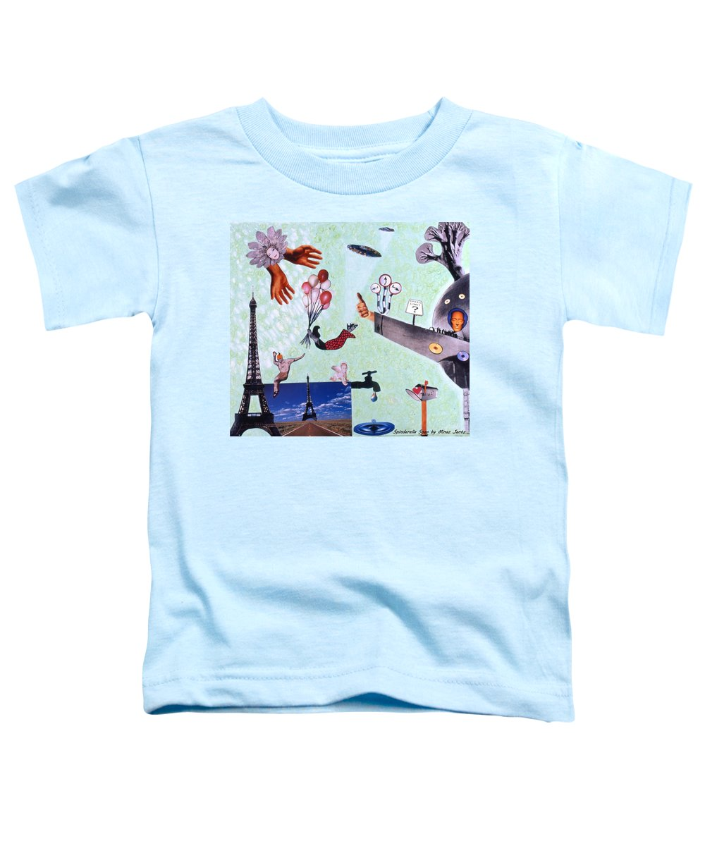 Eiffel Tower Toddler T-Shirt featuring the drawing Soap Scene #27 Zelestial Headquarters by Minaz Jantz