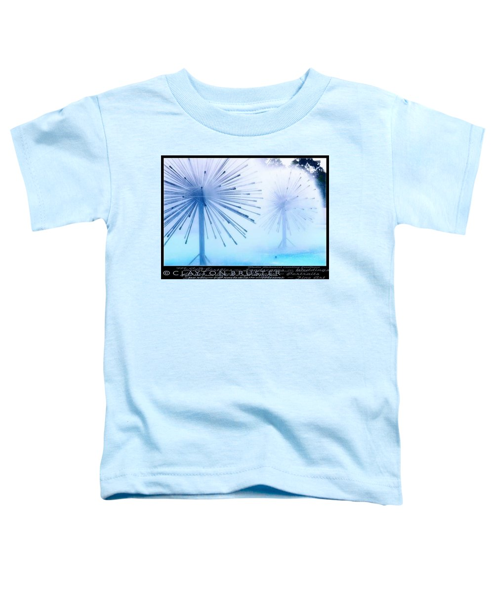 Clay Toddler T-Shirt featuring the photograph Southern California Fountains by Clayton Bruster