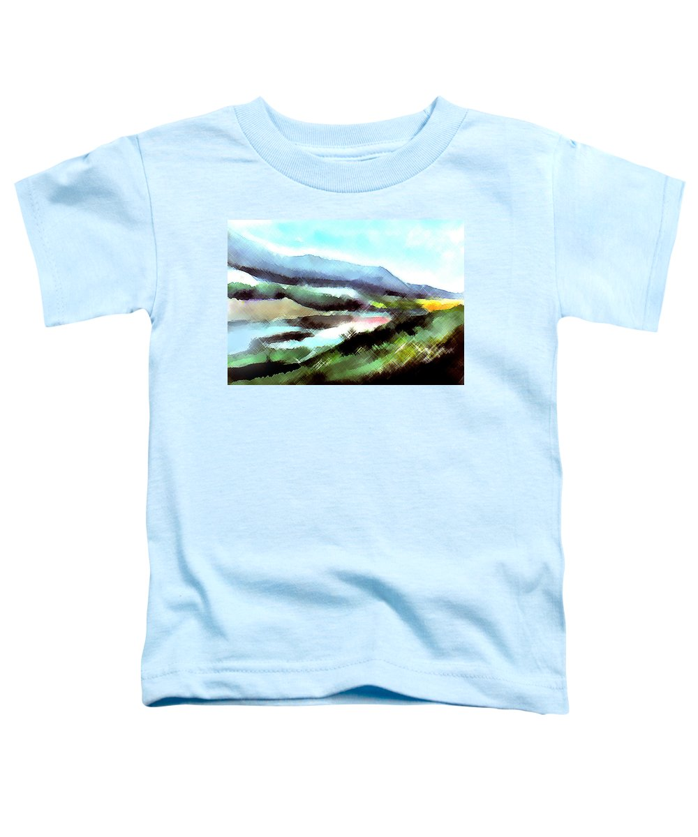 Digital Art Toddler T-Shirt featuring the painting Sparkling by Anil Nene