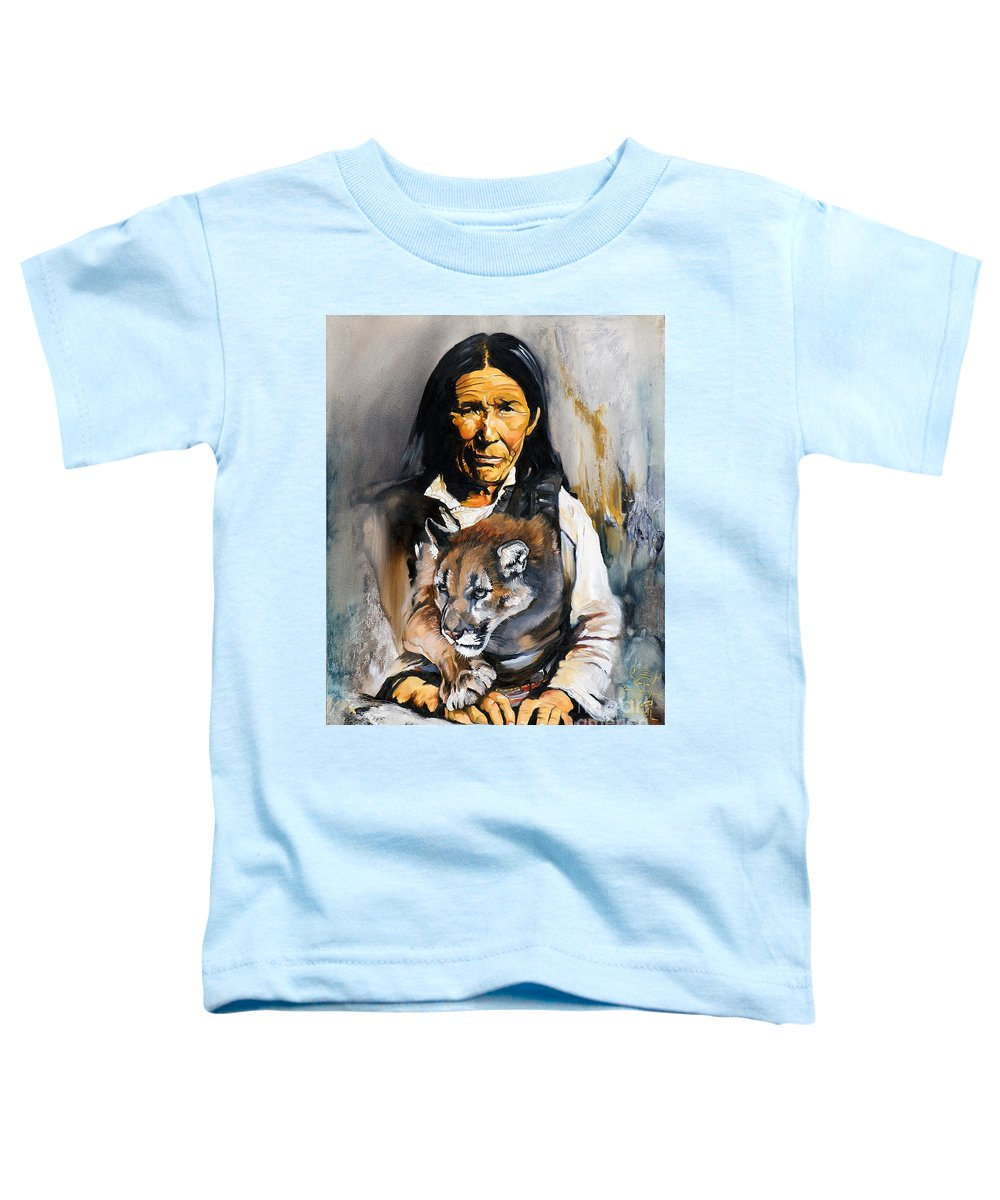 Spiritual Toddler T-Shirt featuring the painting Spirit Within by J W Baker