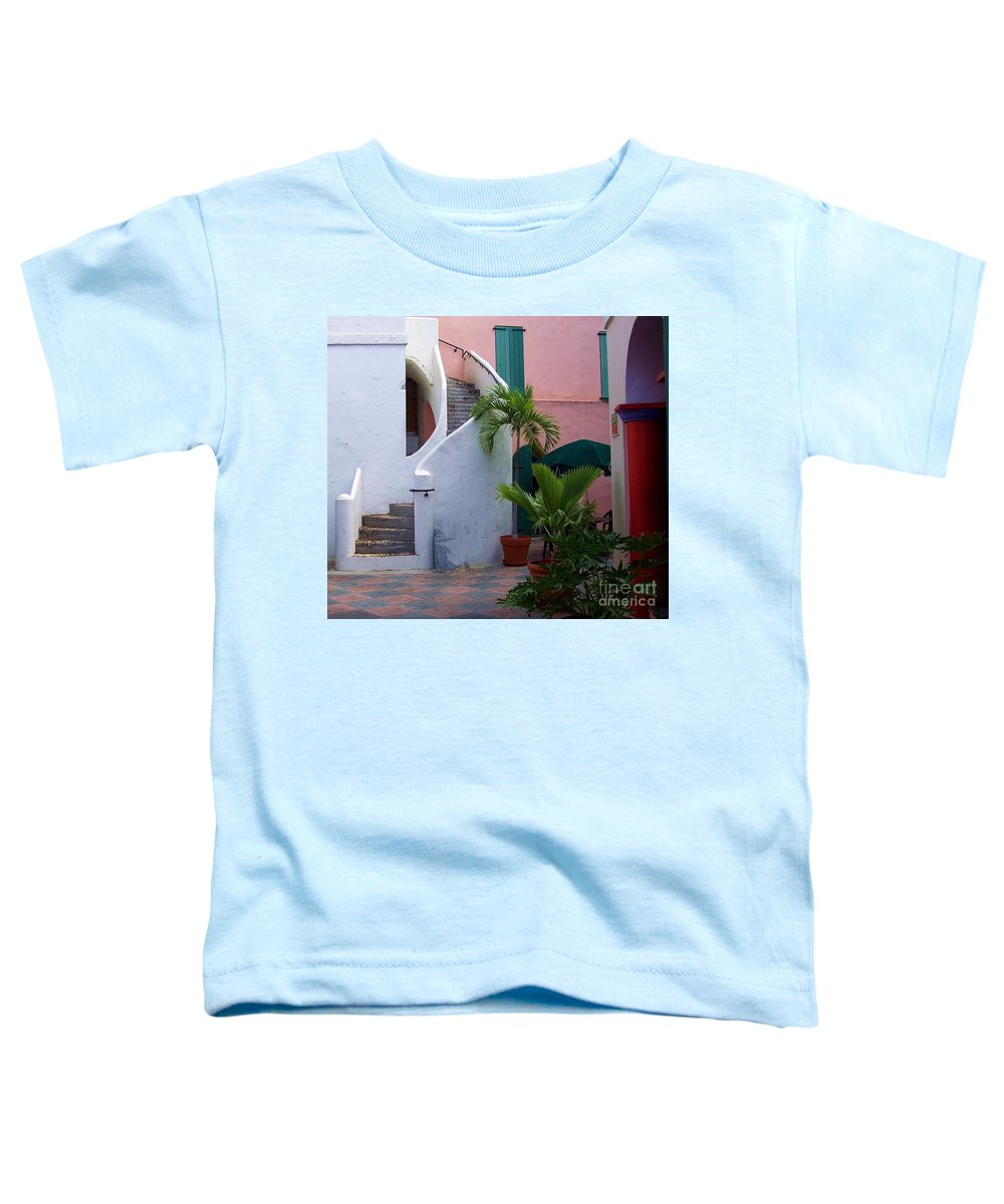 Architecture Toddler T-Shirt featuring the photograph St. Thomas Courtyard by Debbi Granruth