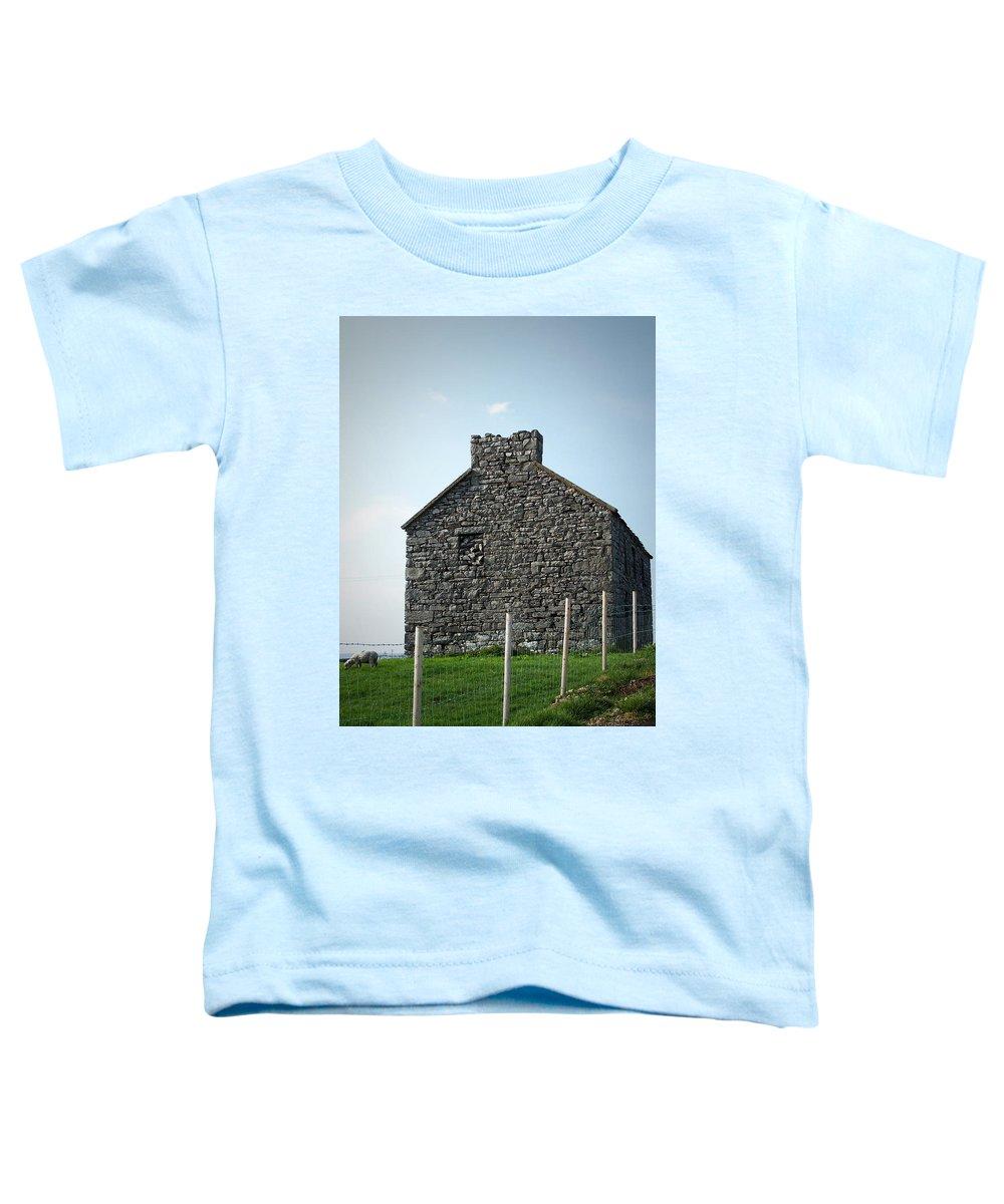 Irish Toddler T-Shirt featuring the photograph Stone Building Maam Ireland by Teresa Mucha