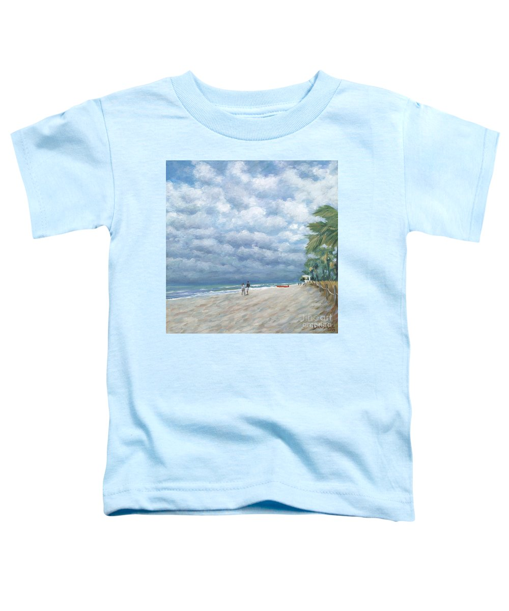 Fort Lauderdale Toddler T-Shirt featuring the painting Storm On The Horizon by Danielle Perry