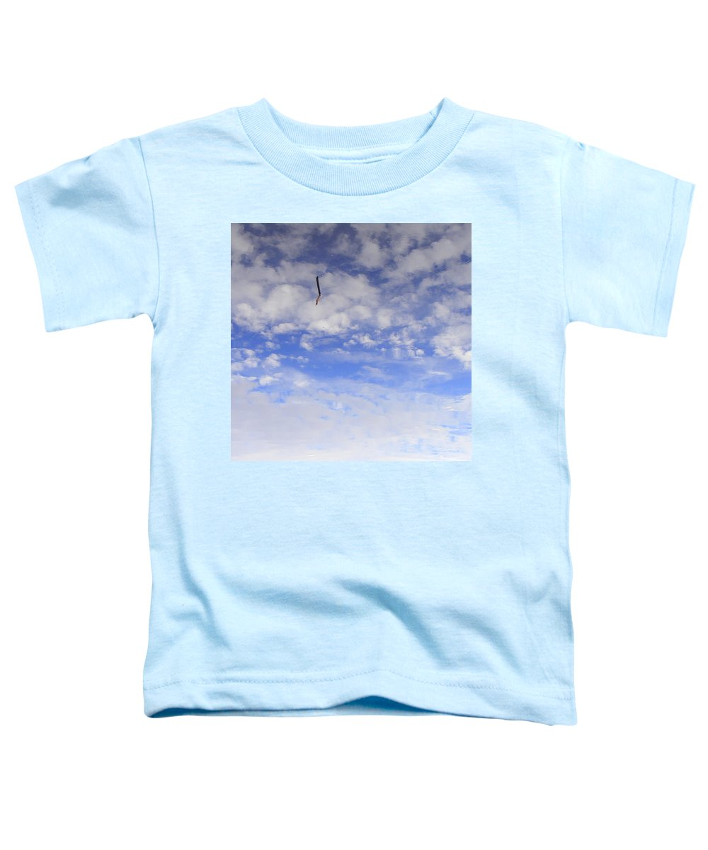 Sky Toddler T-Shirt featuring the photograph Stuck In The Clouds by Ed Smith