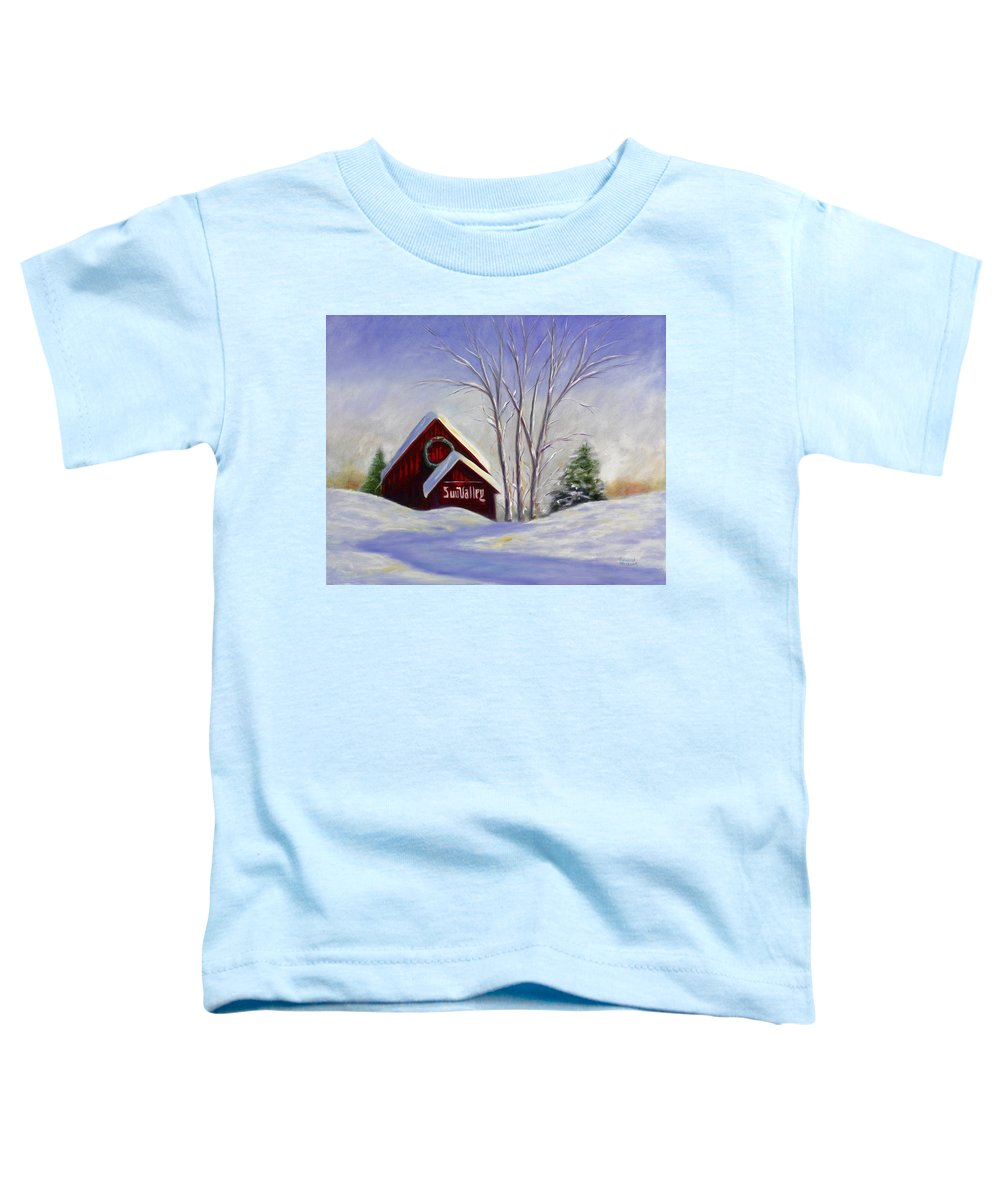 Landscape White Toddler T-Shirt featuring the painting Sun Valley 1 by Shannon Grissom