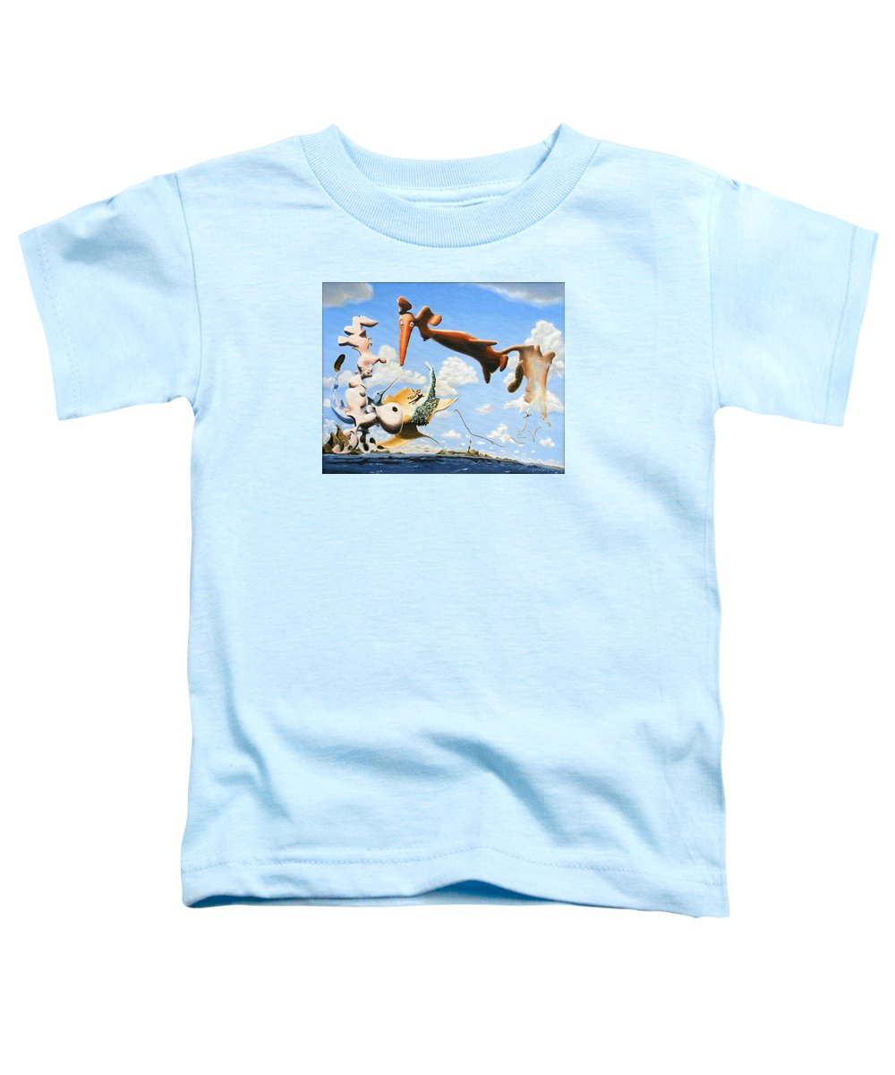 Surreal Toddler T-Shirt featuring the painting Surreal Friends by Dave Martsolf