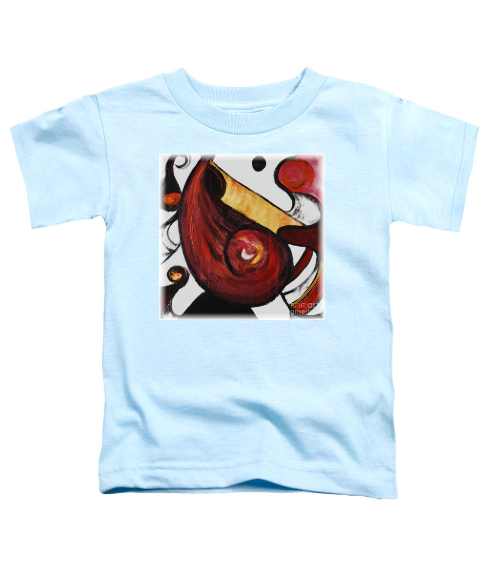 Survivor Toddler T-Shirt featuring the painting Survivor by Nadine Rippelmeyer