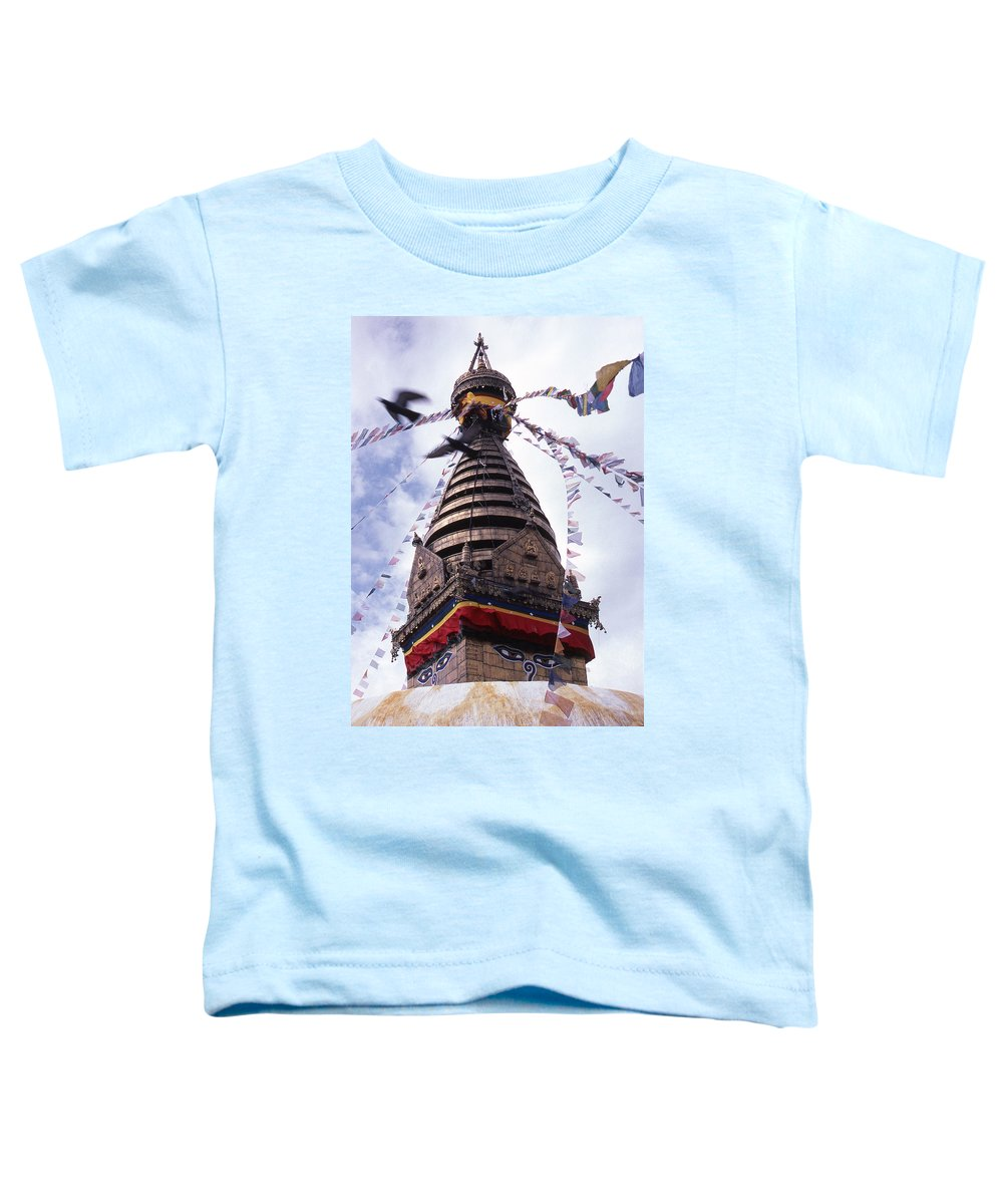 Swayambhunath Toddler T-Shirt featuring the photograph Swayambhunath by Patrick Klauss