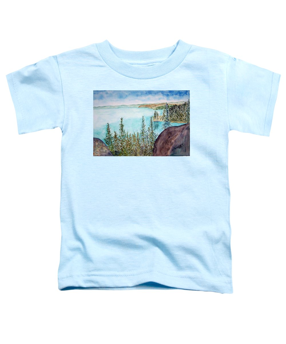 Tahoe Toddler T-Shirt featuring the painting Tahoe Remembered by Larry Wright