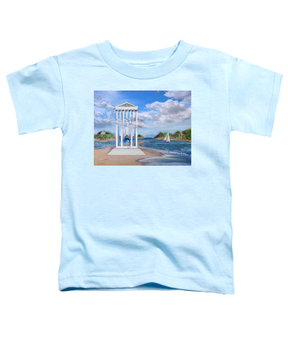 Landscape Toddler T-Shirt featuring the painting Temple For No One by Steve Karol