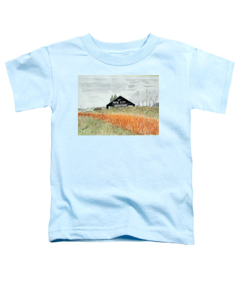 Barns Toddler T-Shirt featuring the painting Tennessee Destination by Larry Wright