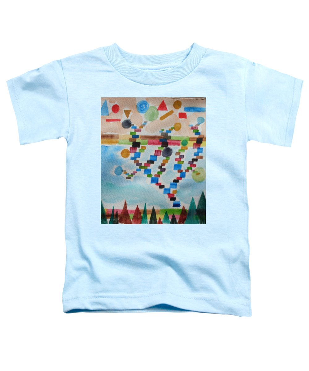 Abstract Toddler T-Shirt featuring the painting Tetrus Meets Nature by Warren Thompson