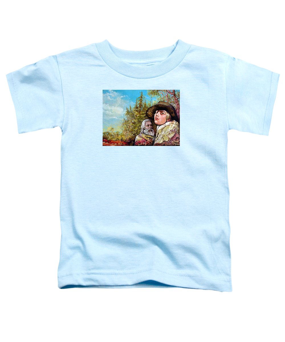 Surrealism Toddler T-Shirt featuring the painting The Dauphin And Captain Nemo Discovering Bogomils Island by Otto Rapp