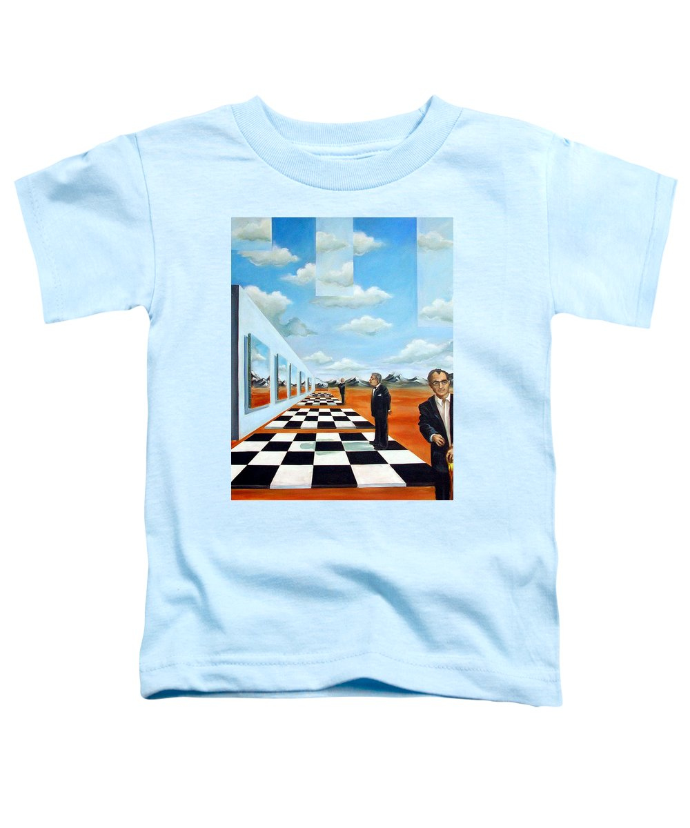 Surreal Toddler T-Shirt featuring the painting The Gallery by Valerie Vescovi