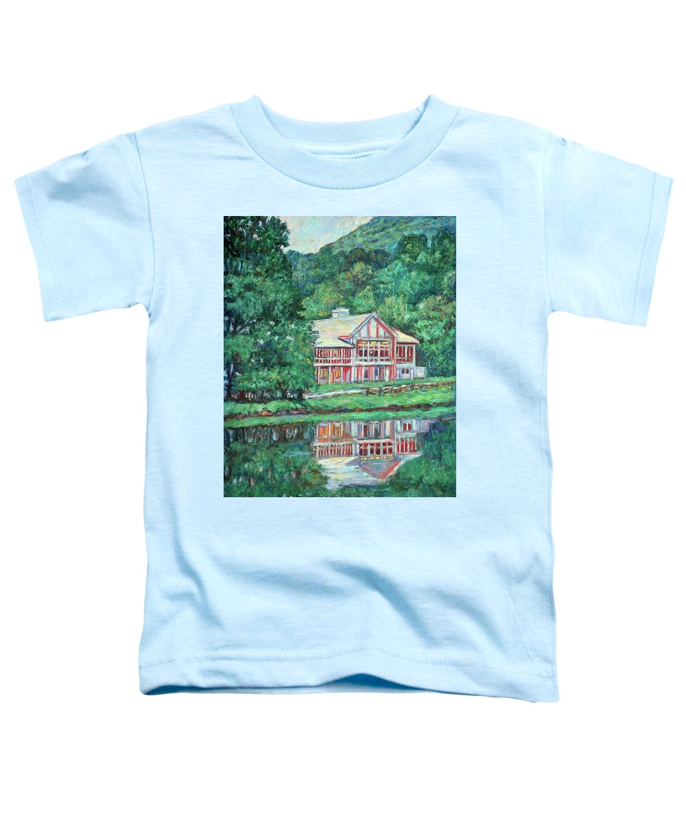 Lodge Paintings Toddler T-Shirt featuring the painting The Lodge At Peaks Of Otter by Kendall Kessler