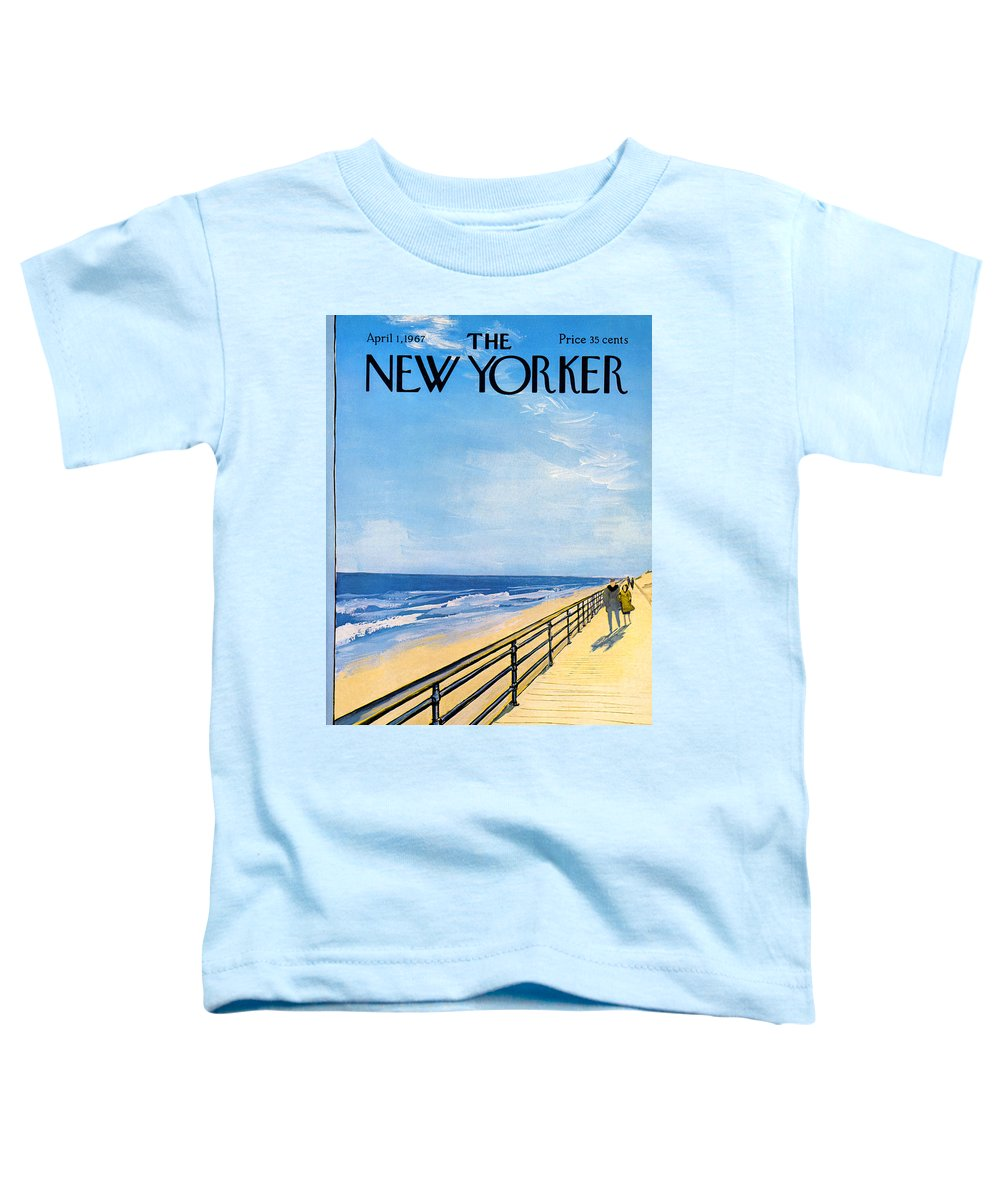 Arthur Toddler T-Shirt featuring the painting The New Yorker Cover - April 1st, 1967 by Arthur Getz