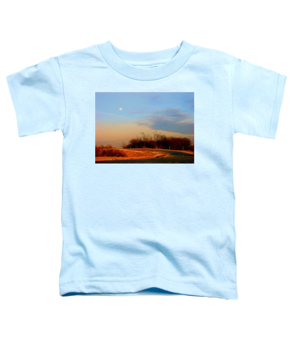 Landscape Toddler T-Shirt featuring the photograph The On Ramp by Steve Karol