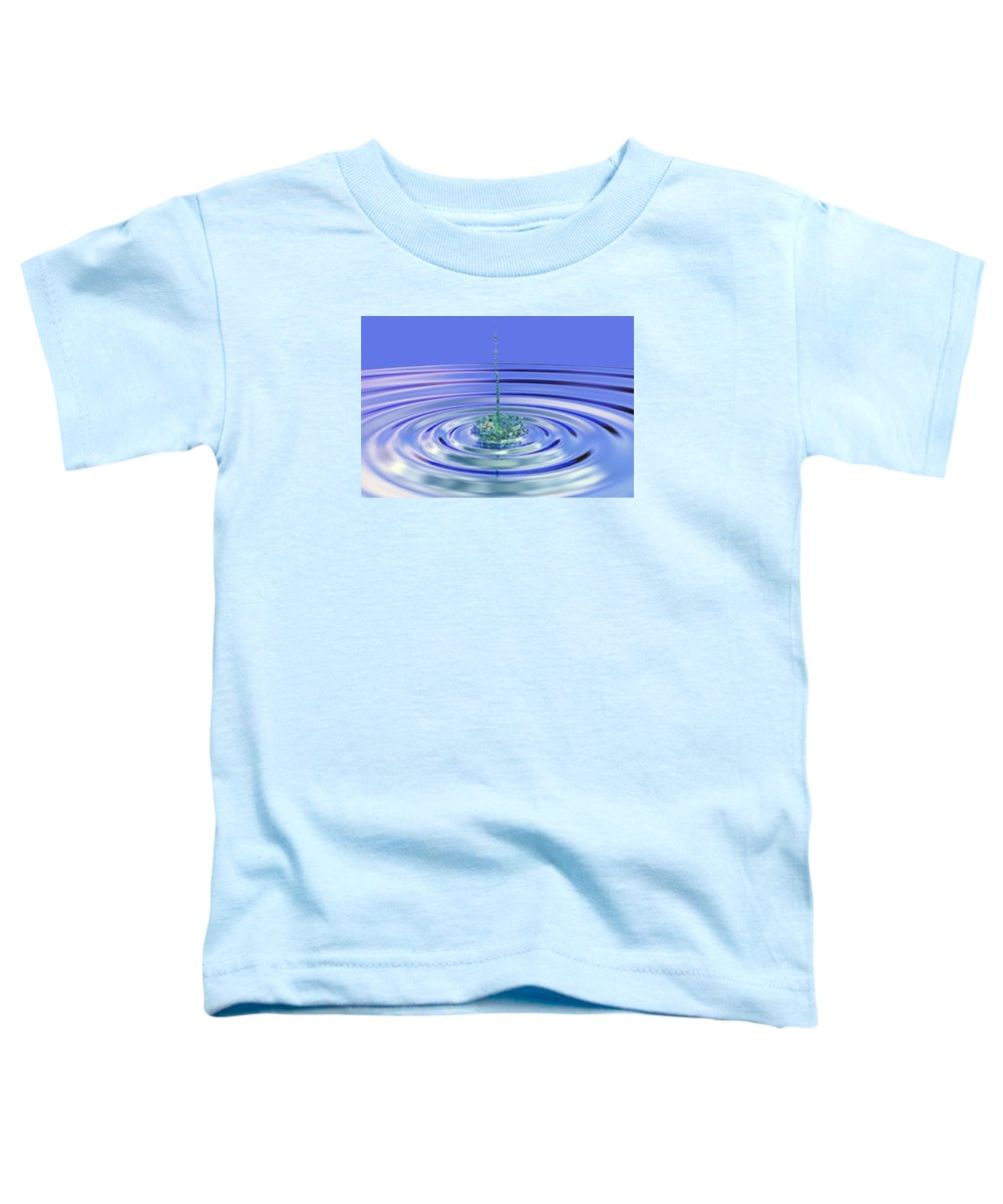 Water Toddler T-Shirt featuring the digital art The Ripple Effect by Betsy Knapp