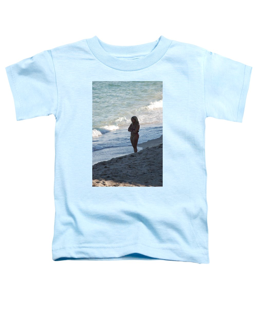 Sea Scape Toddler T-Shirt featuring the photograph The Thinking Women by Rob Hans