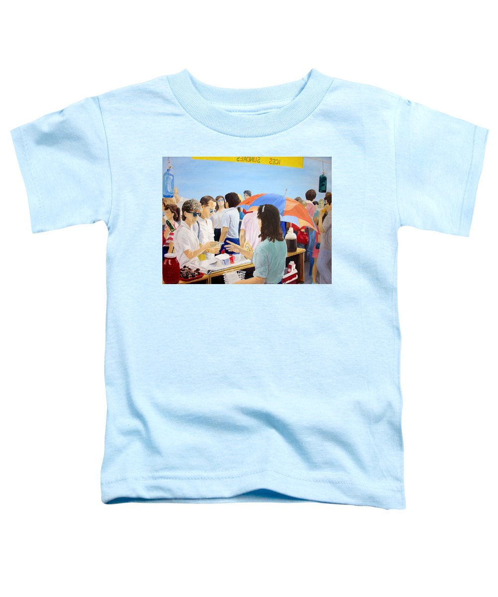 People Toddler T-Shirt featuring the painting The Vendor by Steve Karol