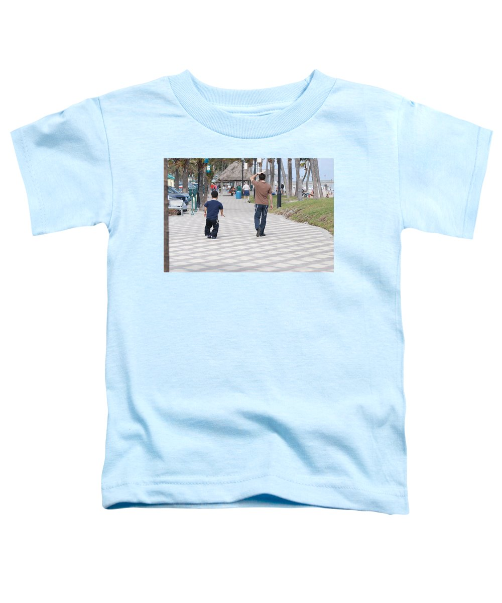 Man Toddler T-Shirt featuring the photograph The Walk by Rob Hans