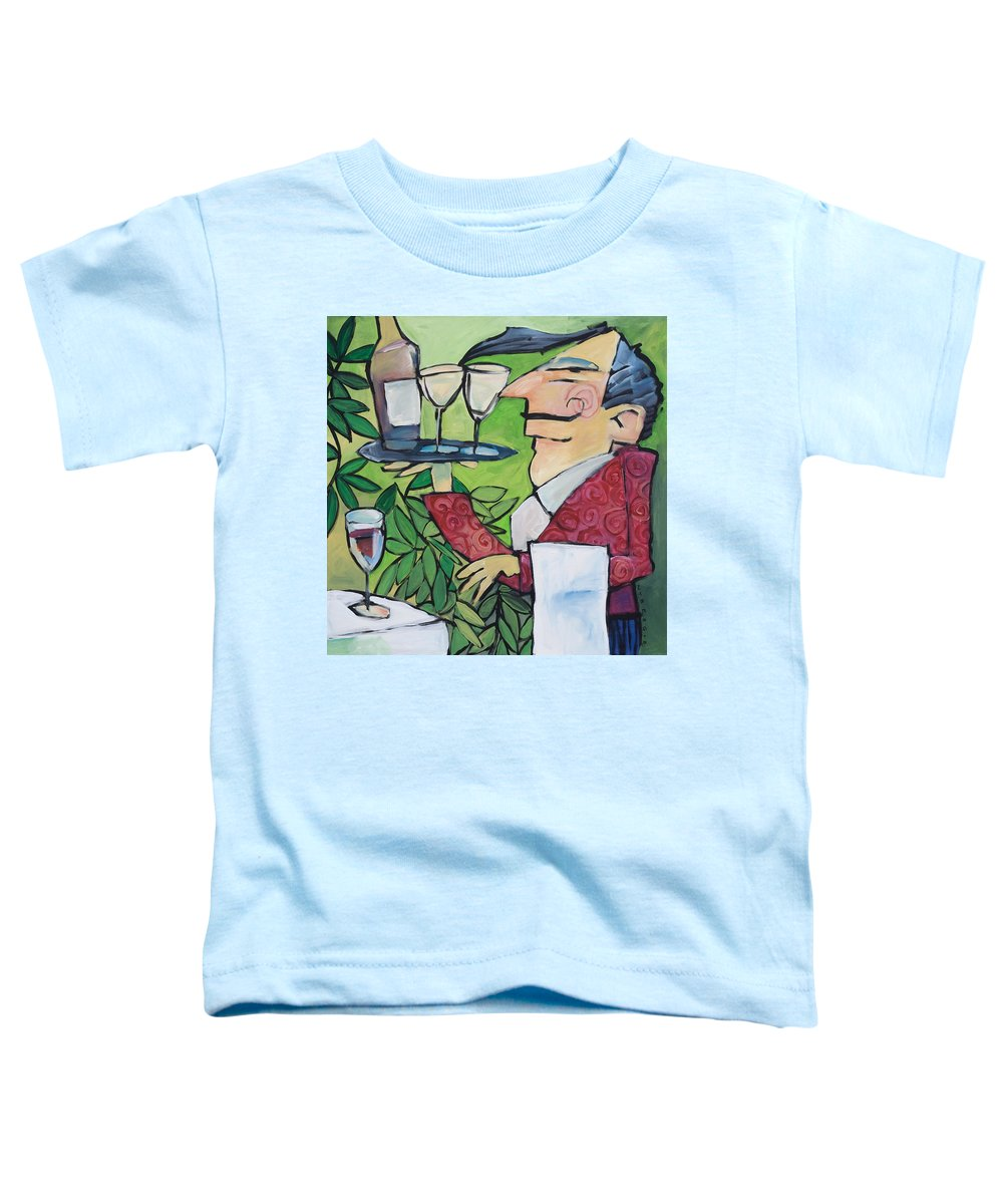 Wine Toddler T-Shirt featuring the painting The Wine Steward by Tim Nyberg