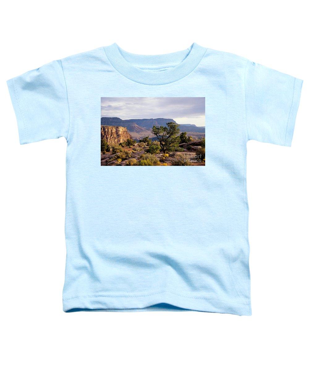 Arizona Toddler T-Shirt featuring the photograph Toroweap by Kathy McClure