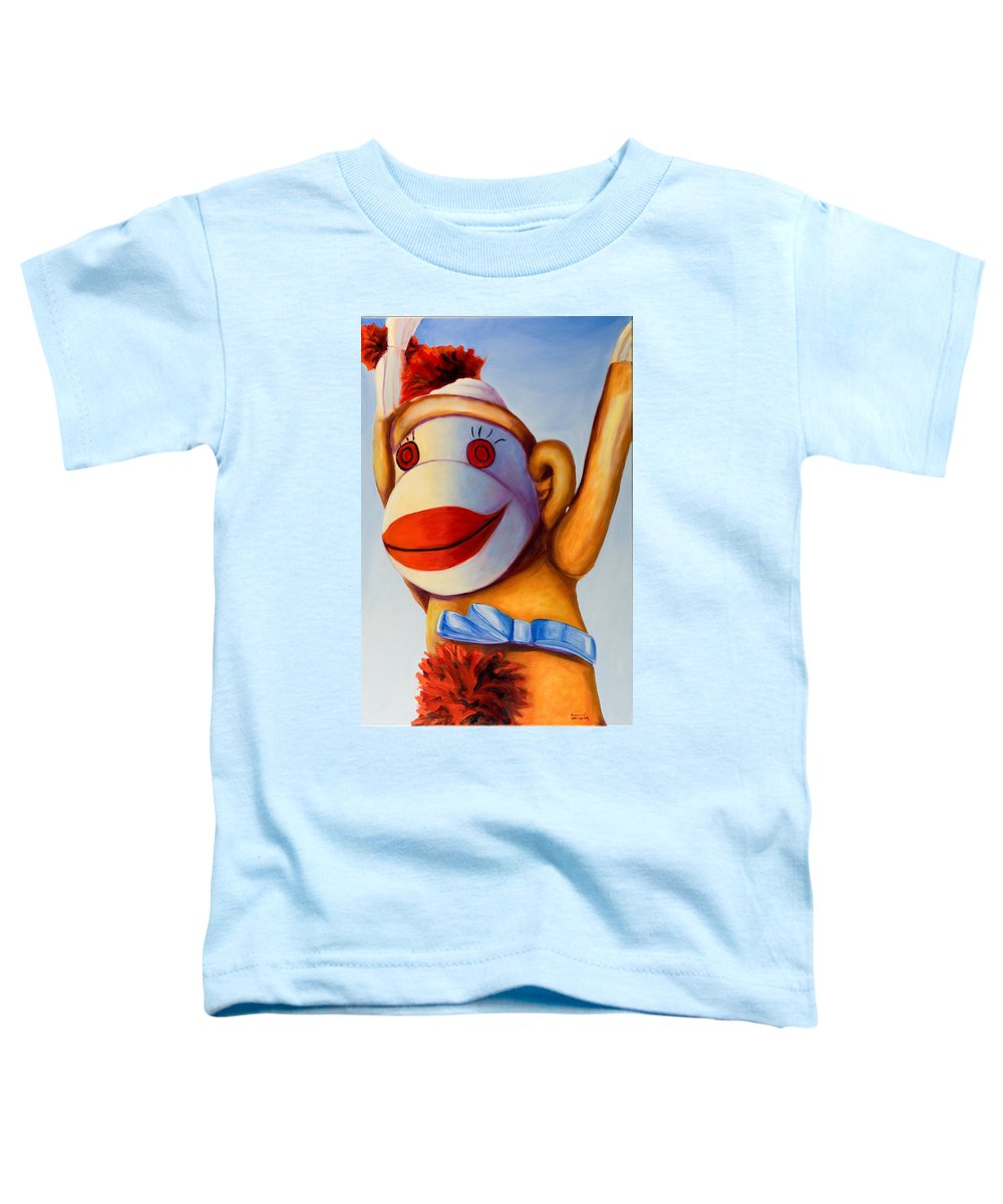 Children Toddler T-Shirt featuring the painting Touchdown by Shannon Grissom