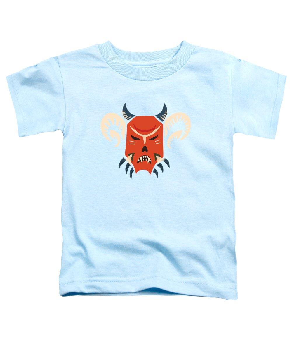 Halloween Mask Toddler T-Shirts