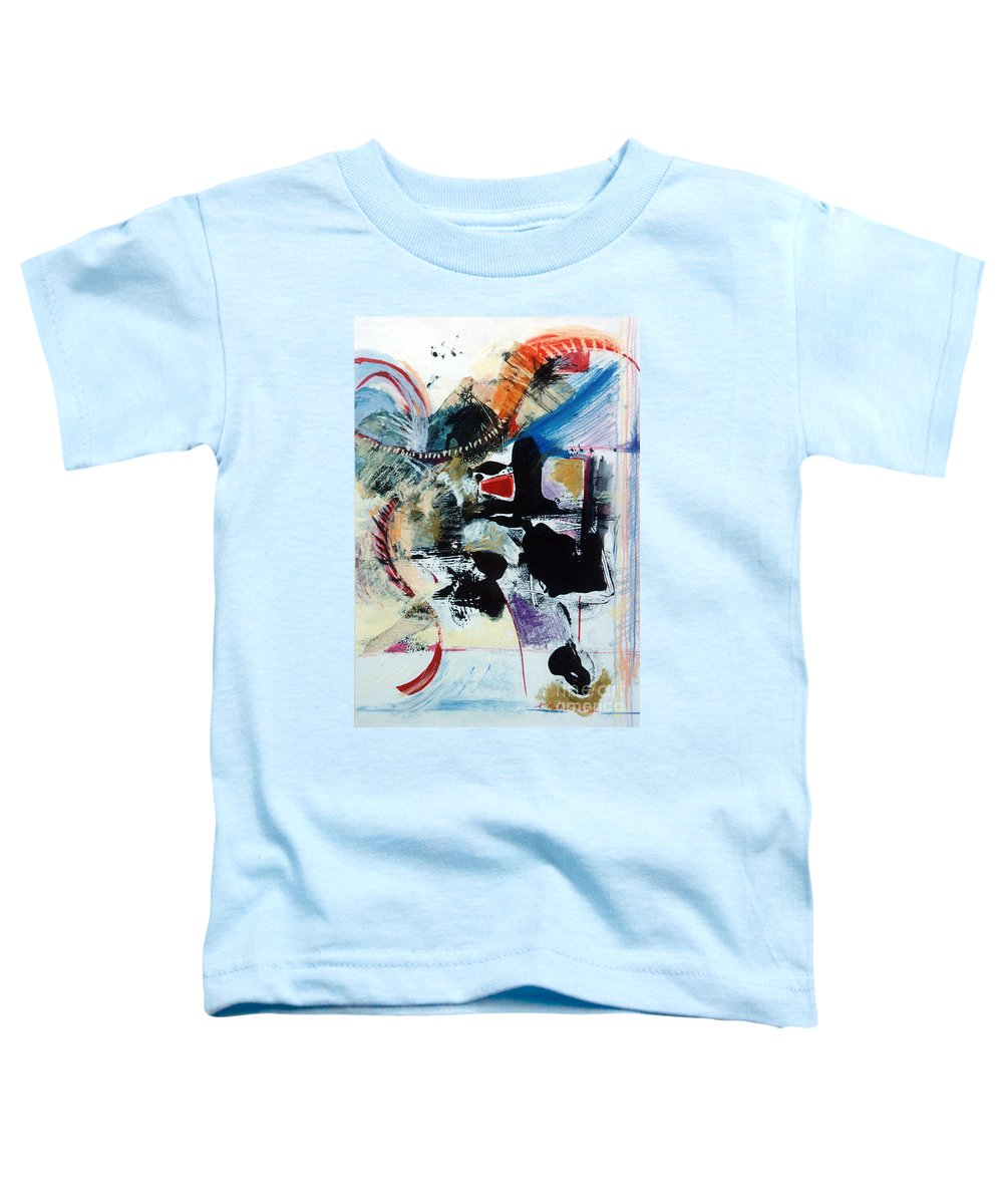 Transcendance Toddler T-Shirt featuring the drawing Transcendance by Kerryn Madsen-Pietsch