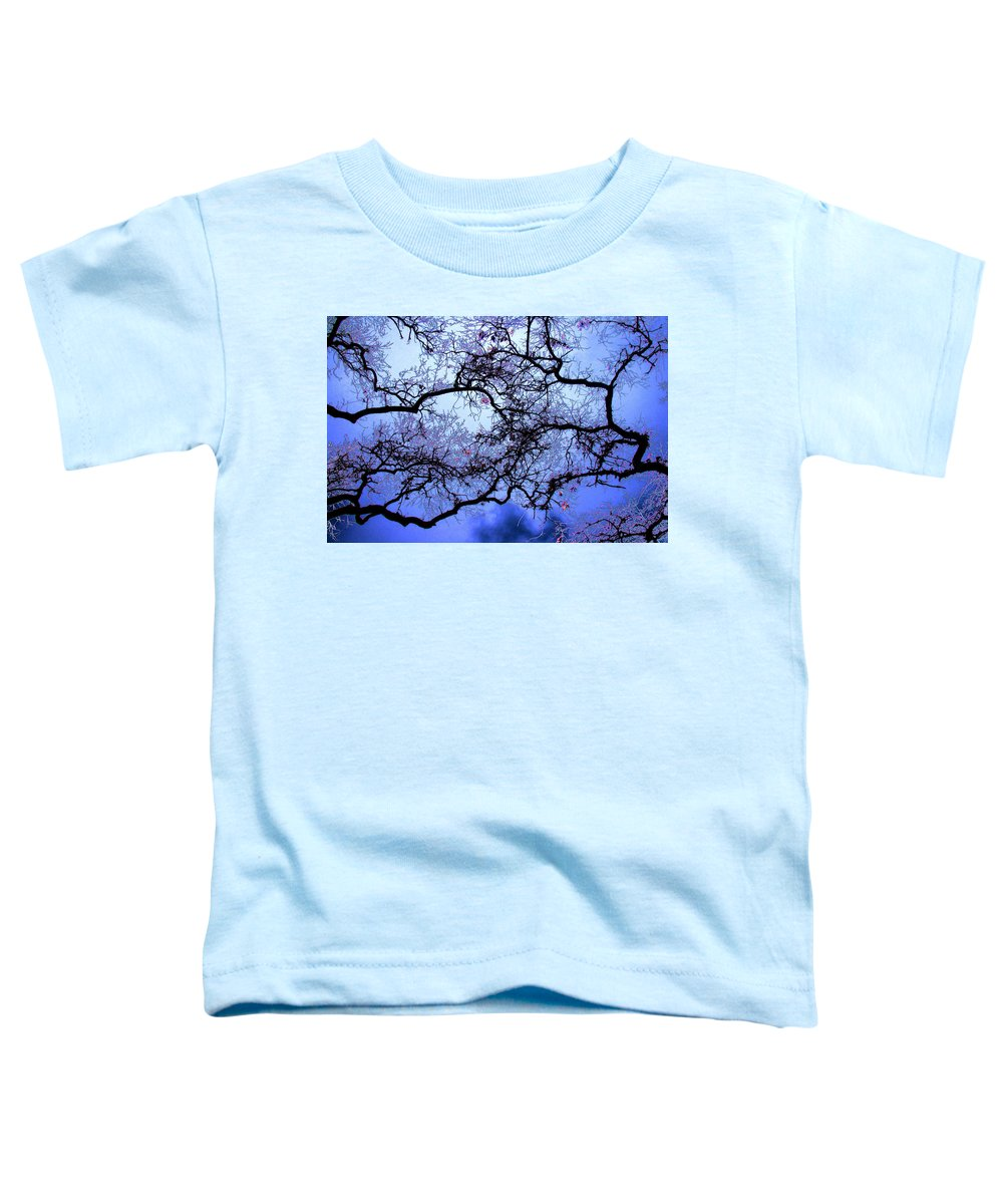 Scenic Toddler T-Shirt featuring the photograph Tree Fantasy In Blue by Lee Santa