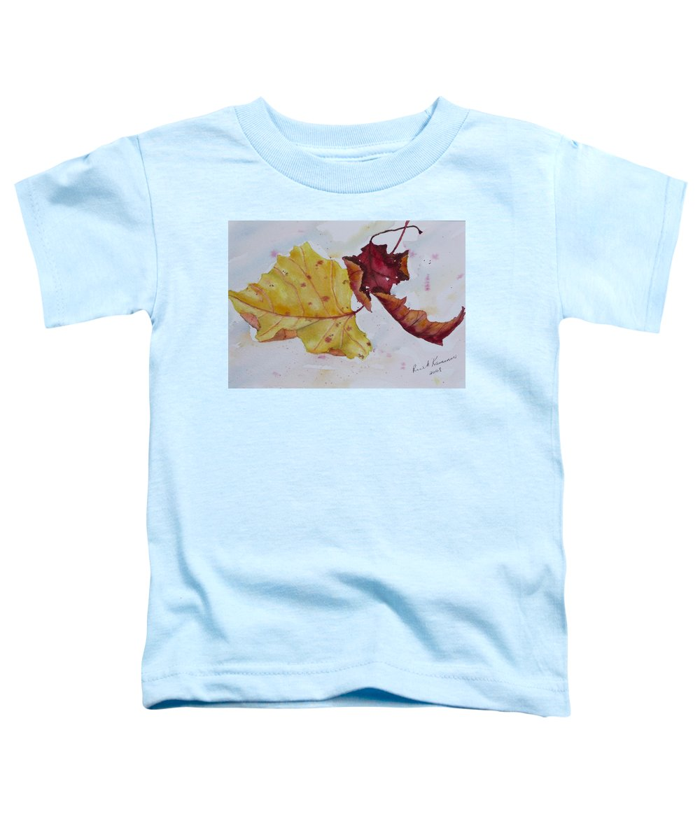 Fall Toddler T-Shirt featuring the painting Tumbling by Ruth Kamenev