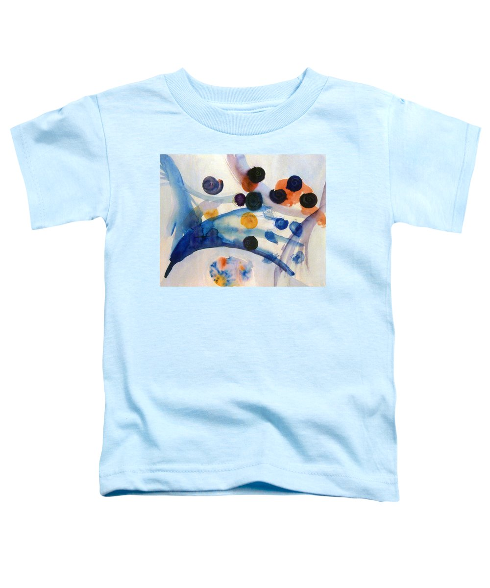 Abstract Toddler T-Shirt featuring the painting Under The Sea by Steve Karol