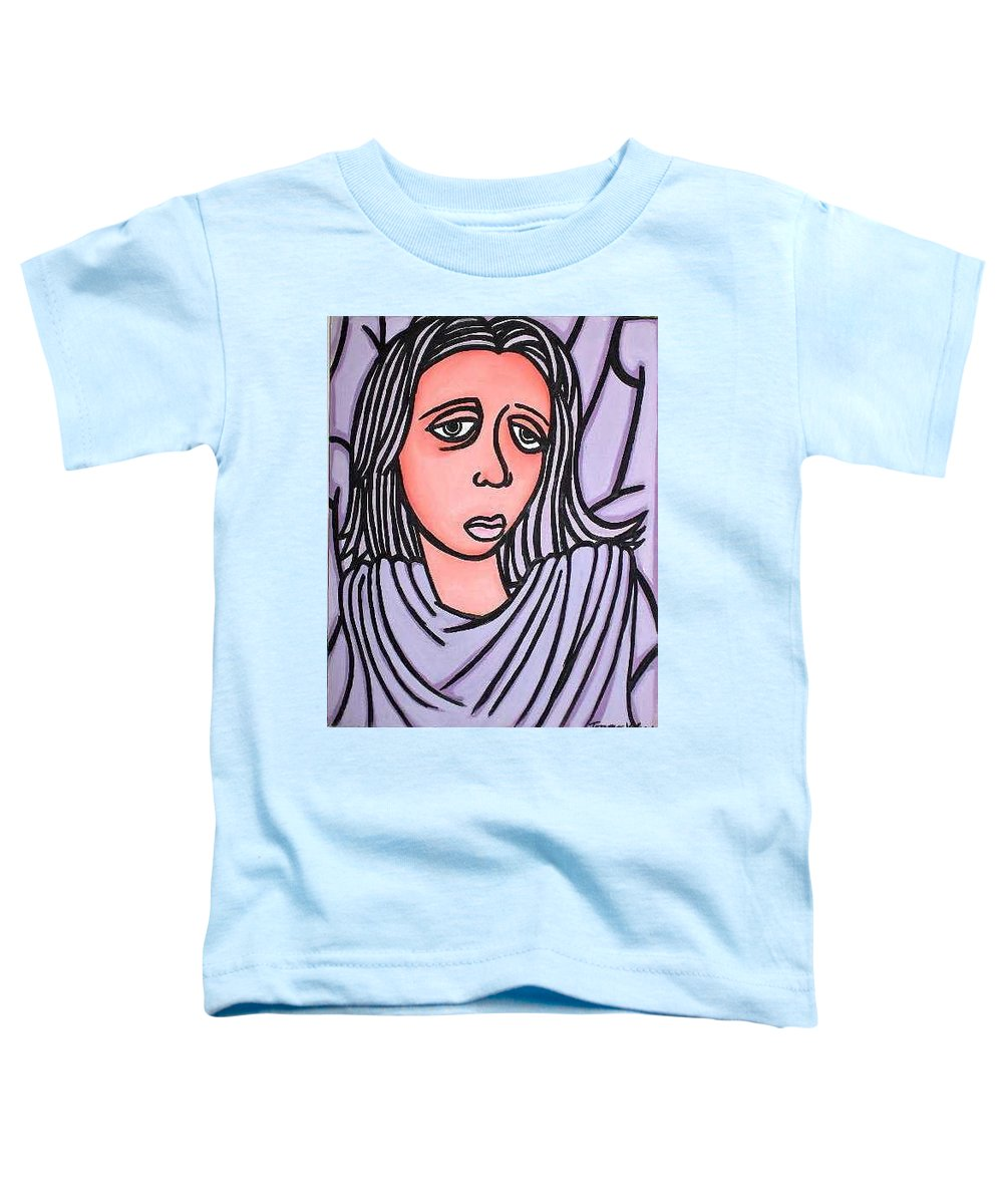 Portrait Toddler T-Shirt featuring the painting Unknown by Thomas Valentine