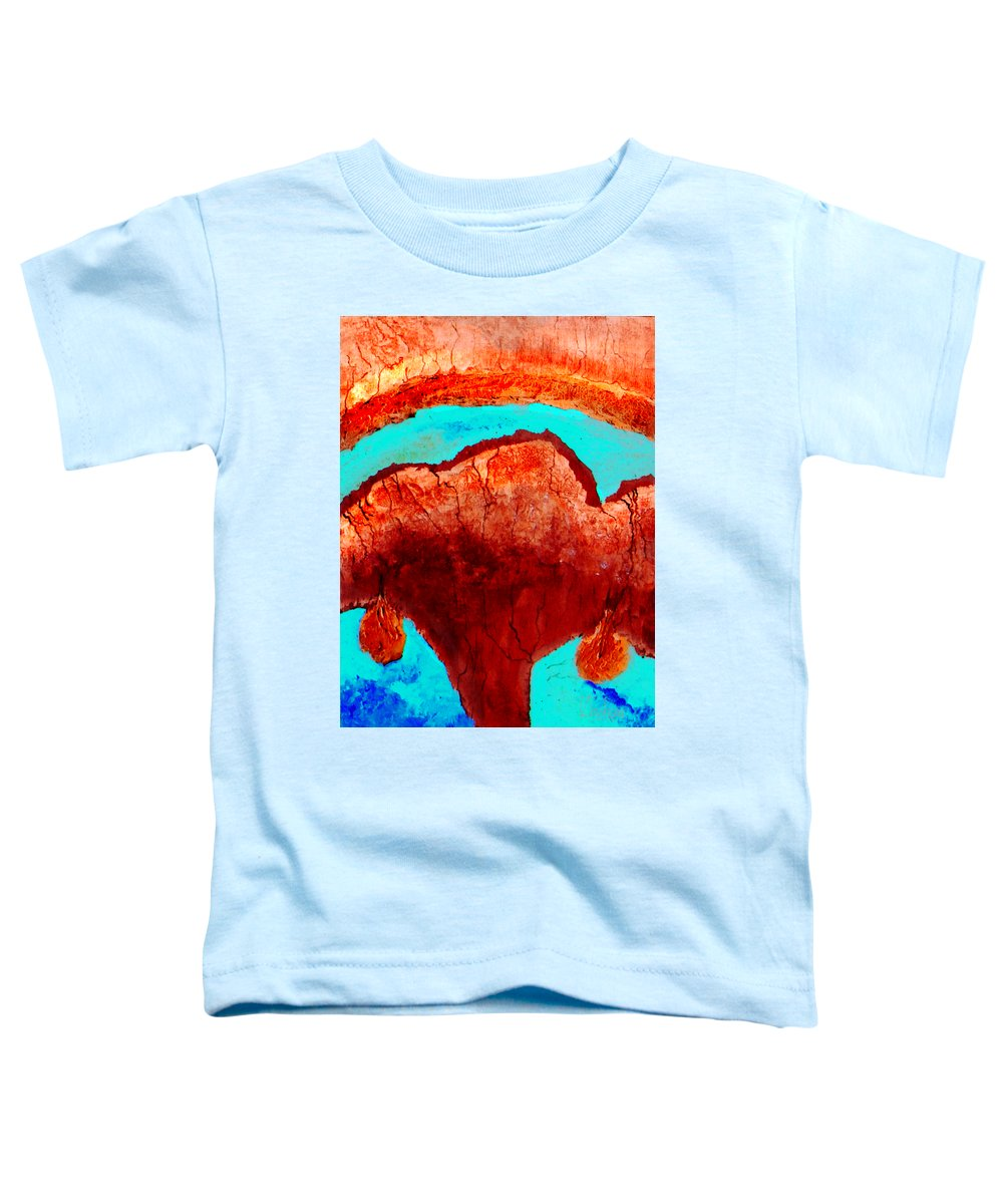 Color Toddler T-Shirt featuring the painting Uterus by Veronica Jackson
