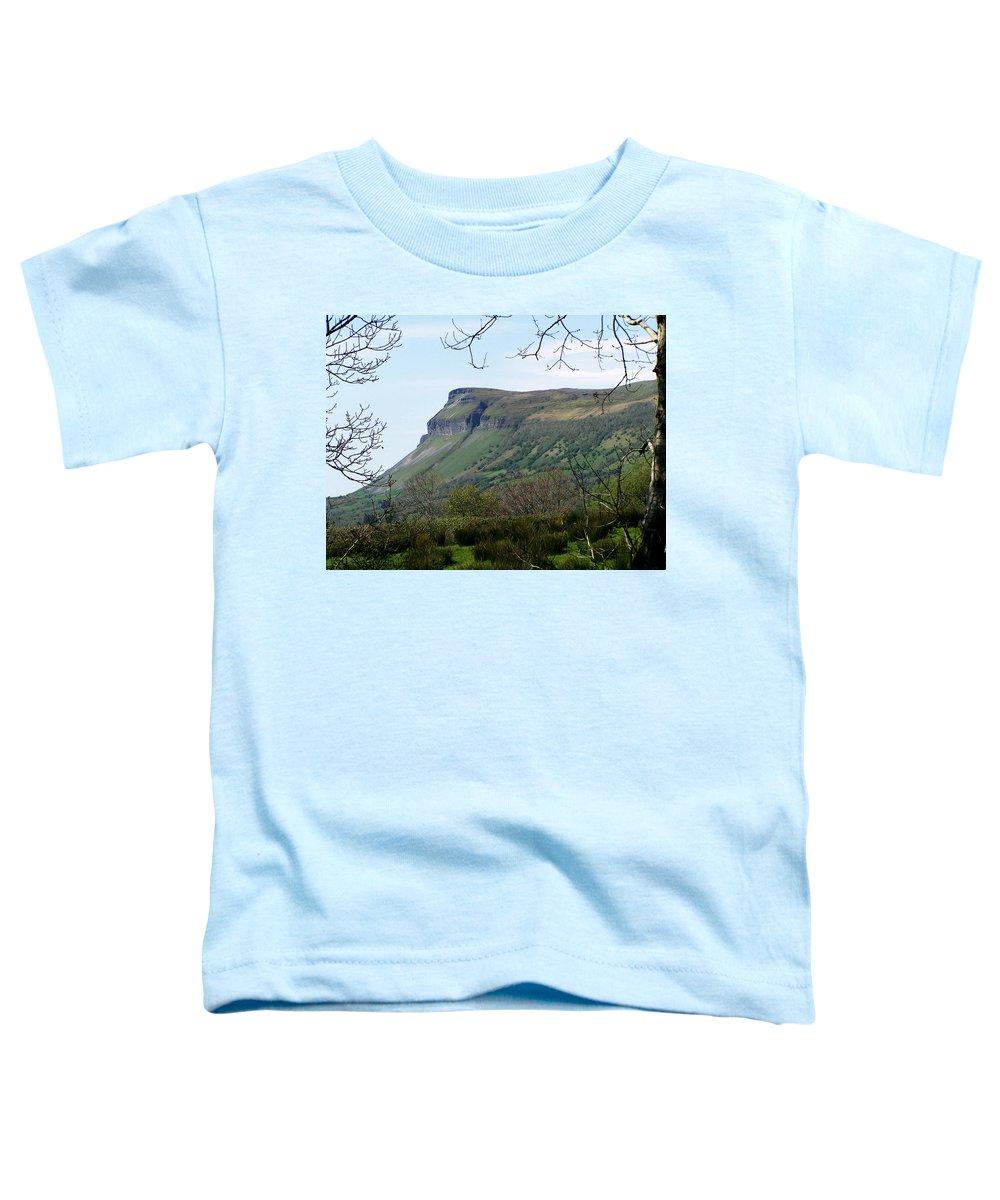 Irish Toddler T-Shirt featuring the photograph View Of Benbulben From Glencar Lake Ireland by Teresa Mucha