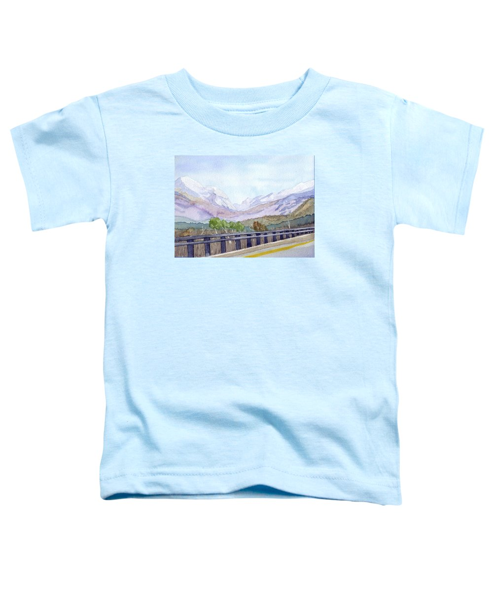 Franconia Notch Toddler T-Shirt featuring the painting View Of Franconia Notch by Sharon E Allen