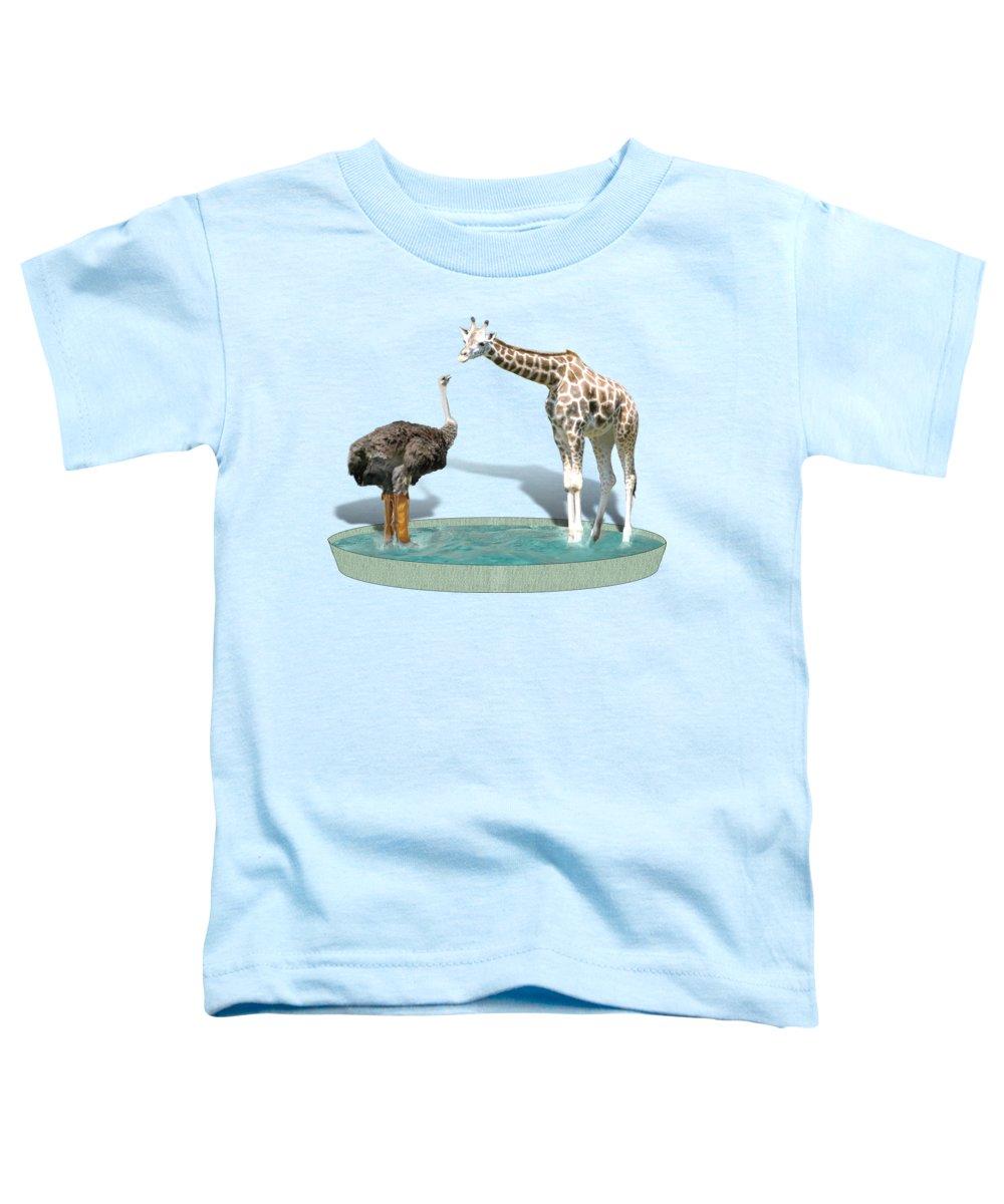 Ostrich Toddler T-Shirts
