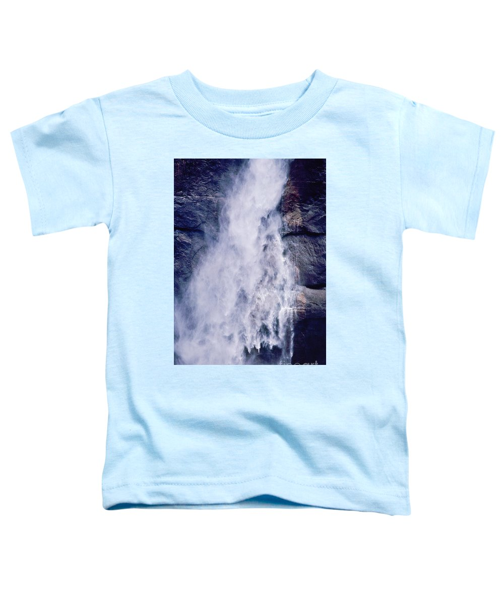 Waterfall Toddler T-Shirt featuring the photograph Water Drops by Kathy McClure
