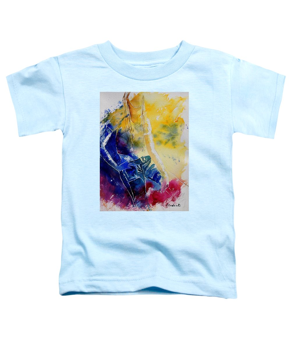Girl Nude Toddler T-Shirt featuring the painting Watercolor 21546 by Pol Ledent