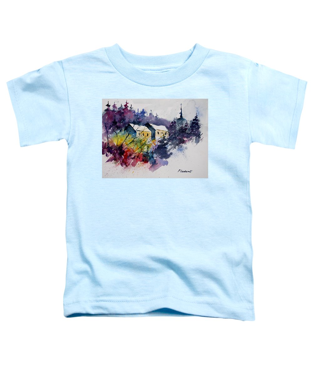 River Toddler T-Shirt featuring the painting Watercolor 231207 by Pol Ledent