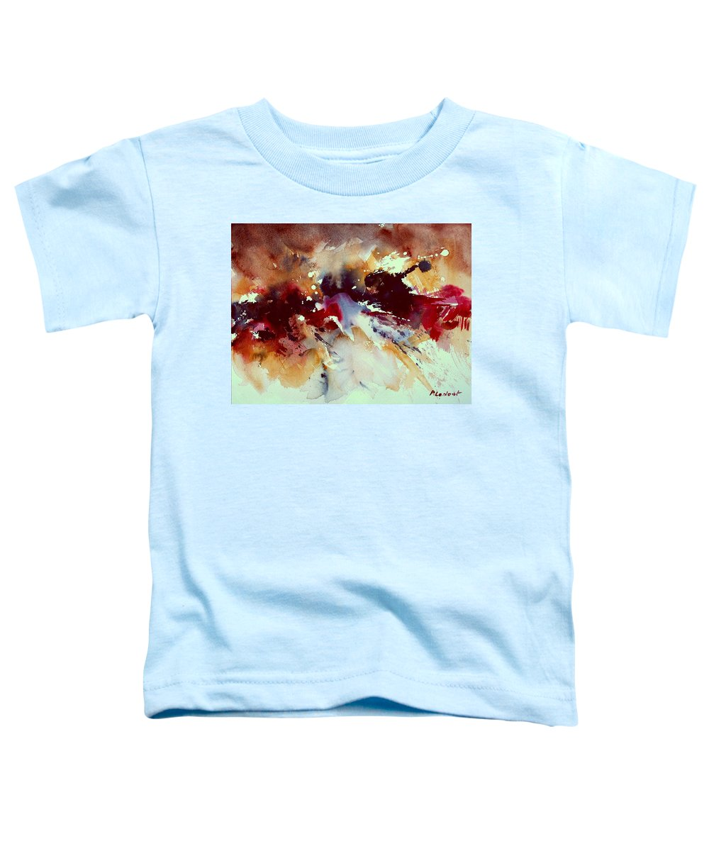 Abstract Toddler T-Shirt featuring the painting Watercolor 301107 by Pol Ledent