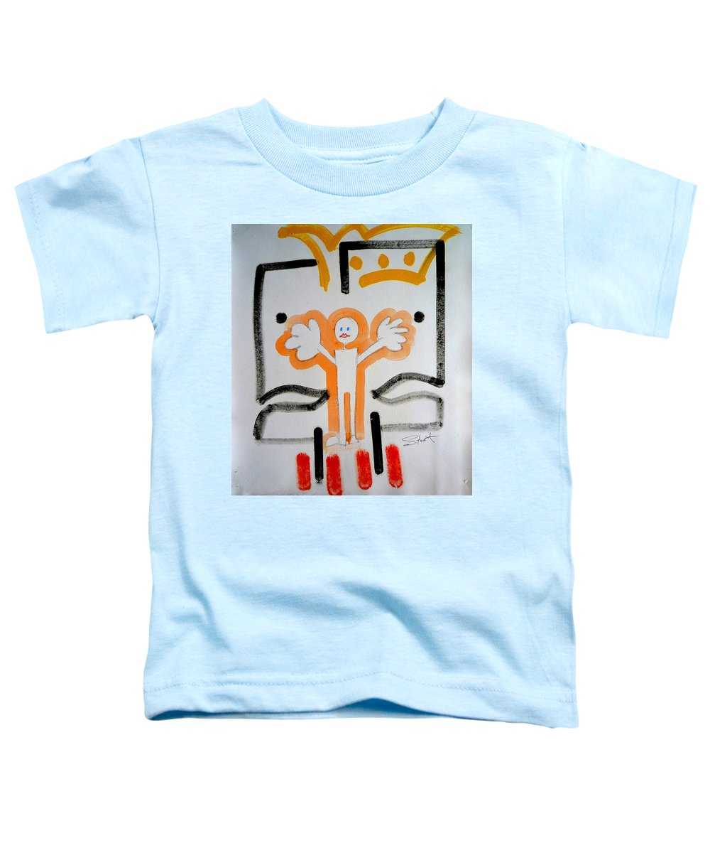 Drawing Toddler T-Shirt featuring the painting welcome to the U N by Charles Stuart