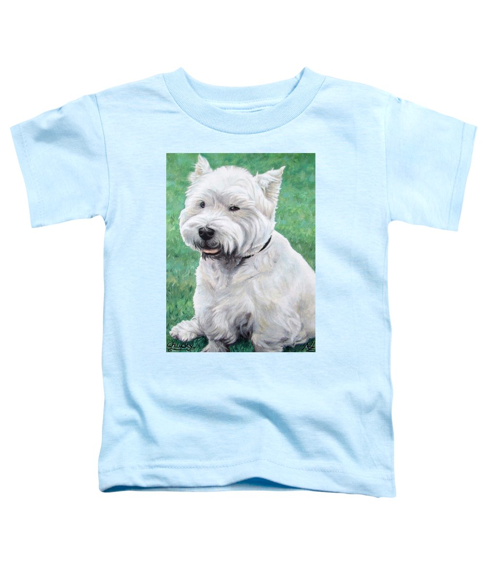 Dog Toddler T-Shirt featuring the painting West Highland Terrier by Nicole Zeug