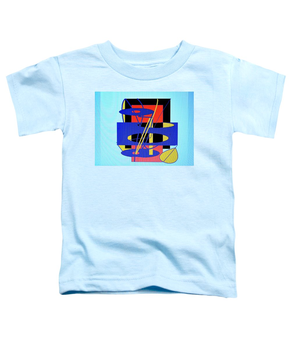 Abstract Toddler T-Shirt featuring the digital art Widget World by Ian MacDonald