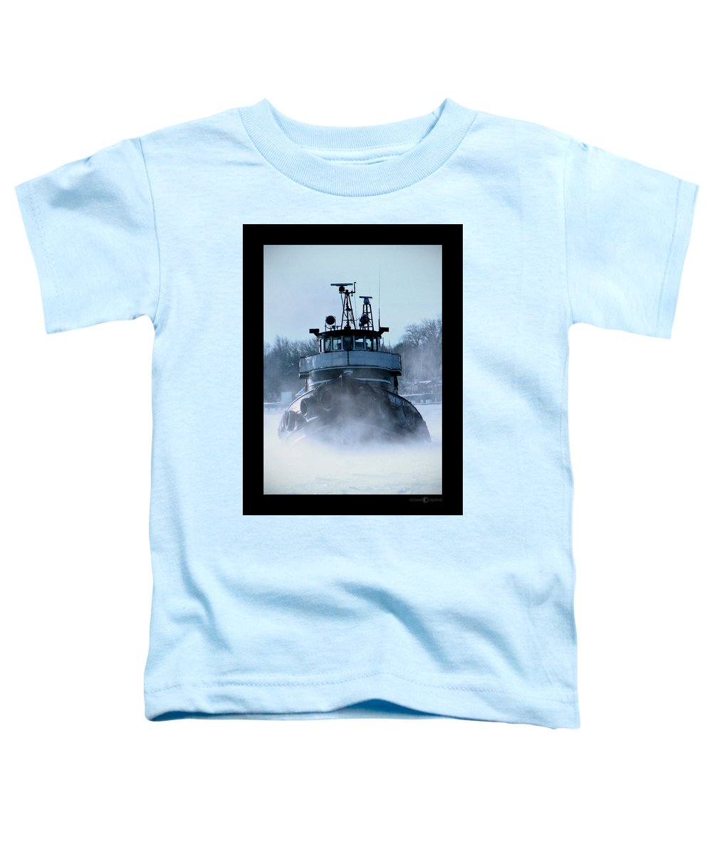 Tug Toddler T-Shirt featuring the photograph Winter Tug by Tim Nyberg