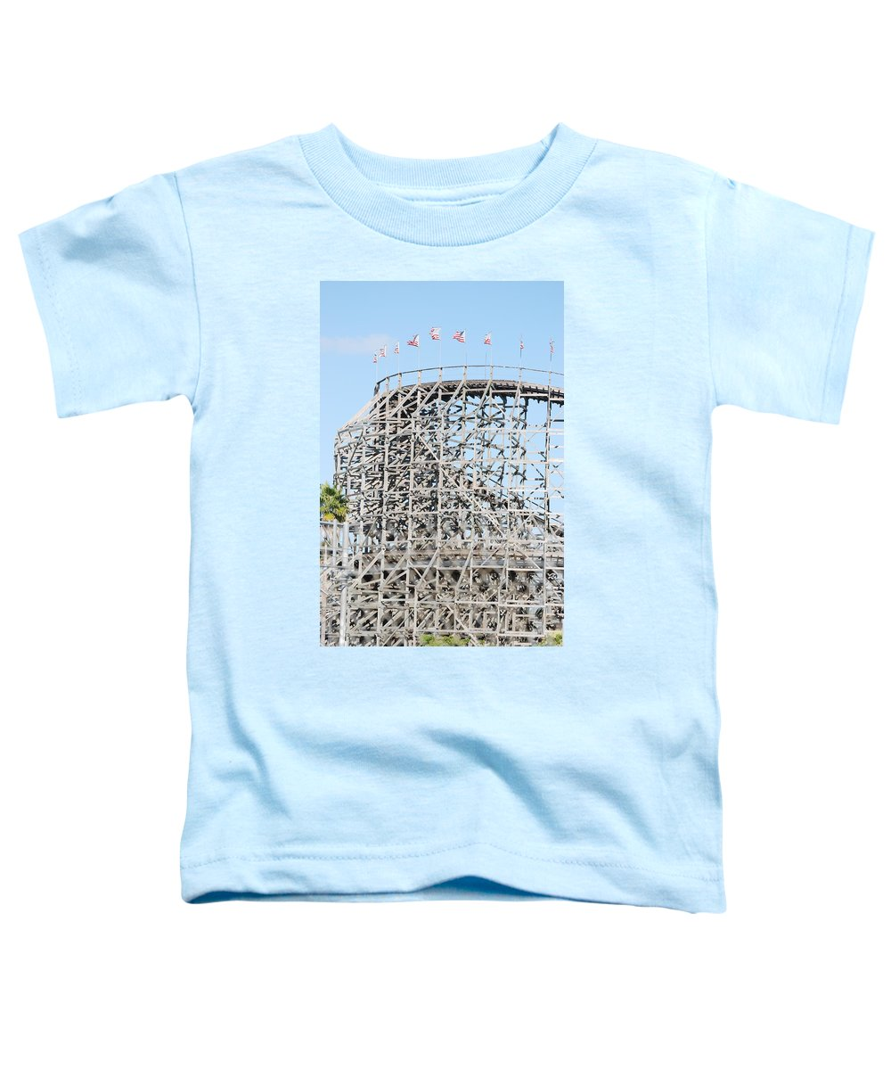 Pop Art Toddler T-Shirt featuring the photograph Wooden Coaster by Rob Hans