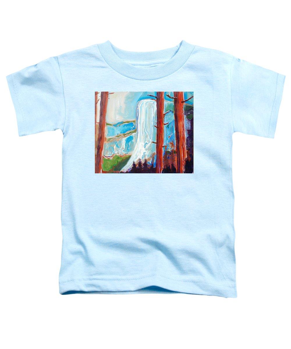 Toddler T-Shirt featuring the painting Yosemite by Kurt Hausmann