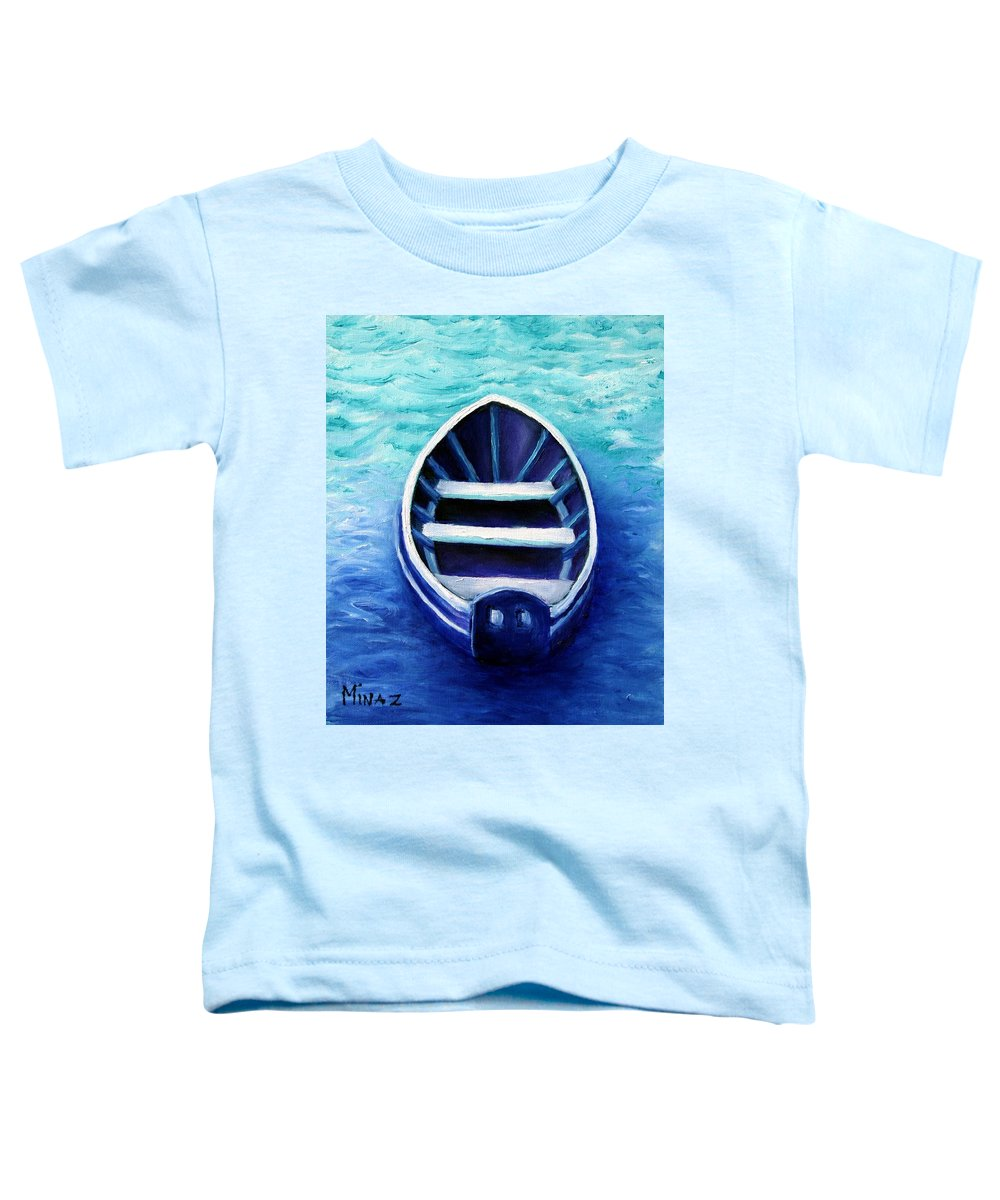 Boat Toddler T-Shirt featuring the painting Zen Boat by Minaz Jantz
