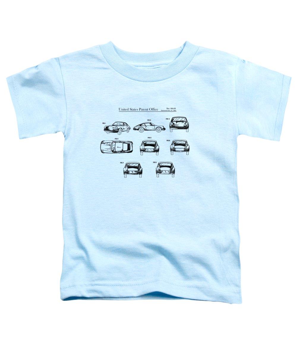 Porsche 911 Patent Toddler T-Shirt featuring the photograph Porsche 911 Patent by Mark Rogan